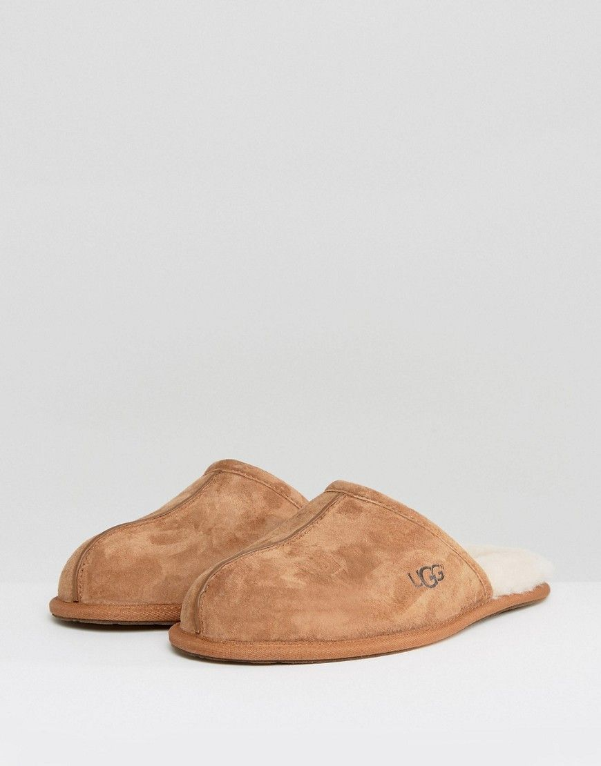 UGG Scuff Suede Mule Slippers In Chestnut free shipping buy best wholesale online HnuL8lM