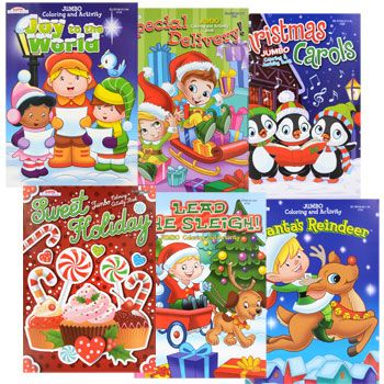 Bulk Jumbo Christmas Coloring And Activity Books At DollarTree