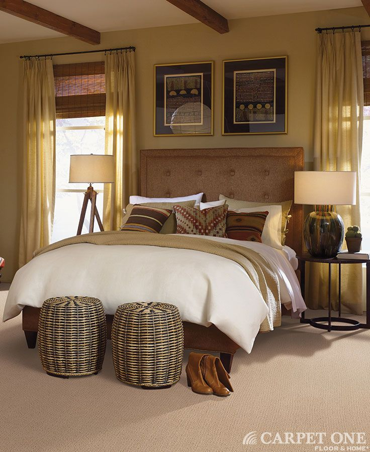 Soft Innovia Carpet Is Perfect For This Comfy Southwestern