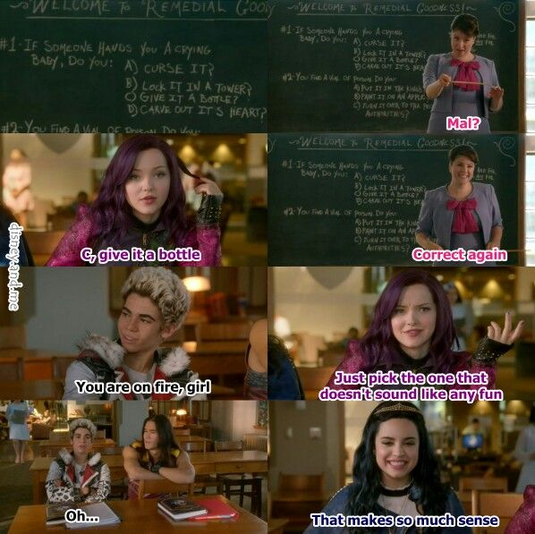 The Descendants Movie Quotes: Disney Descendants. Mal, Evie, Jay, Carlos And Fairy