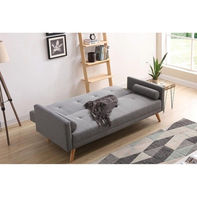 Canape Scandinave Convertible 3 Places Wooden Small Flat