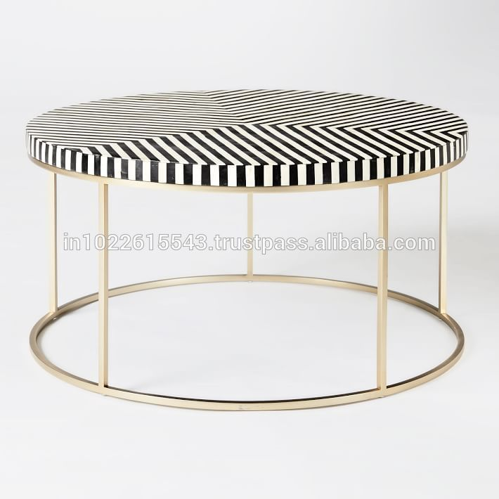 Astounding Indian Bone Inlay Round Coffee Table View Indian Bone Inlay Dailytribune Chair Design For Home Dailytribuneorg