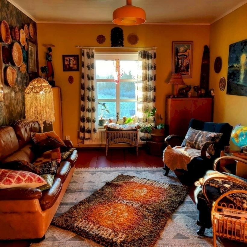 Colorful Bohemian Rooms: Incredible Colorful Bohemian Living Room Ideas For