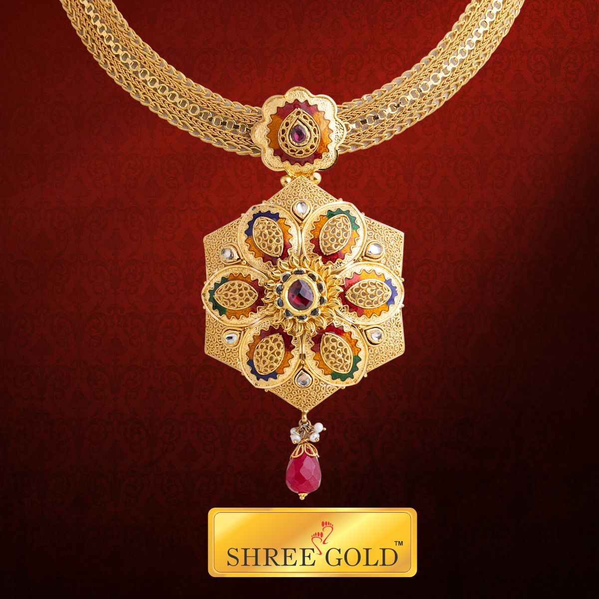 Trendy and gorgeous looking Necklace with stone pendant .. craftsmanship at its core.. like it for your friends..