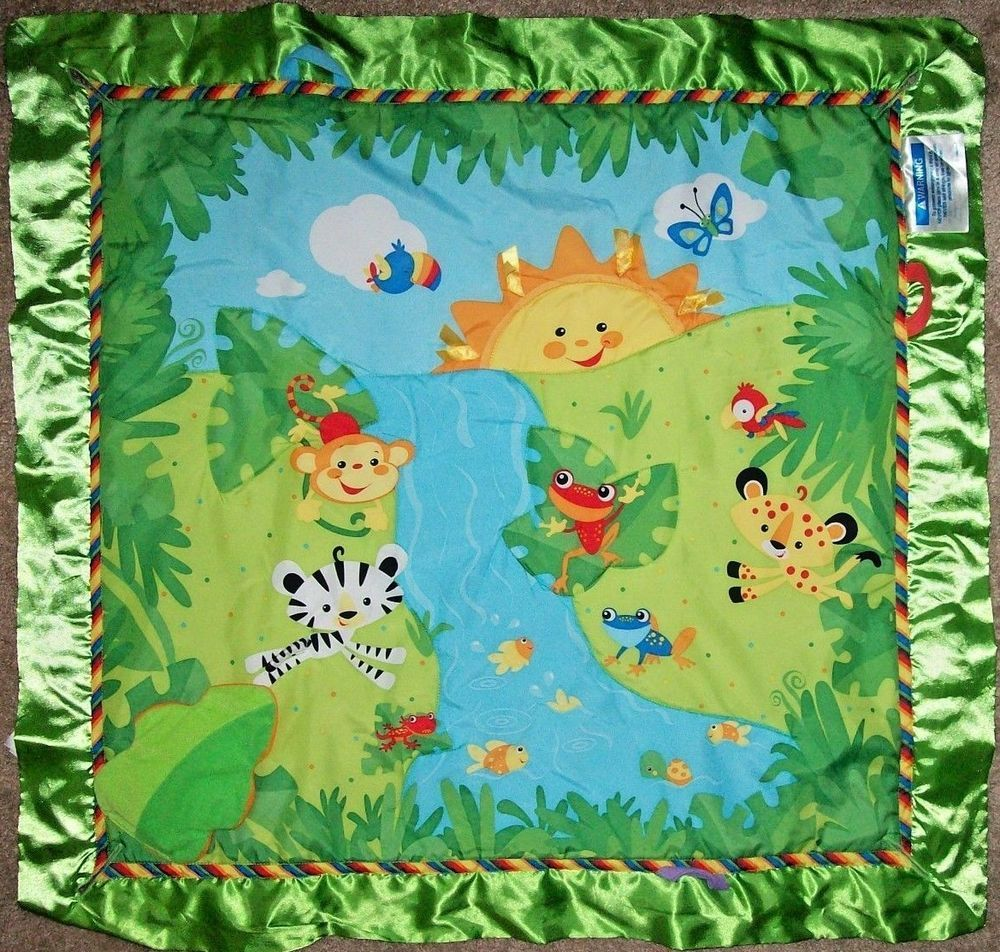 Fisher Price K4562 Rainforest Music And Lights Deluxe Gym Replacement Mat Only Fisherprice Rainforest Activities Baby Necessities Baby Gear Bundle