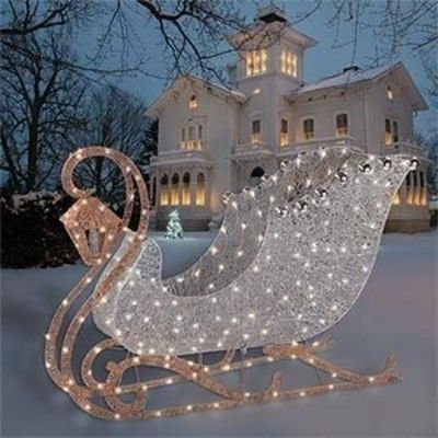 Christmas Lighted Sleigh Outdoor Decoration Philips Christmas Decor