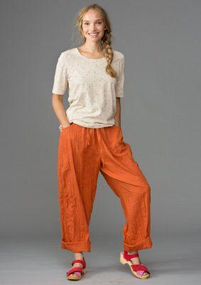 1abee477e09e Eco-cotton pants – Trousers – GUDRUN SJÖDÉN – Webshop, mail order and  boutiques