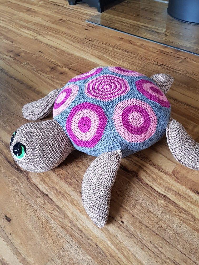 Riesenschildkröte Als Sitzkissen Meine Süssen Häkeln Als