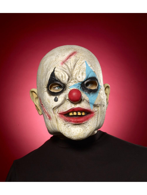 Evil Clown Bald Partybell Com Evil Clowns Evil Clown Mask Halloween Costume Accessories