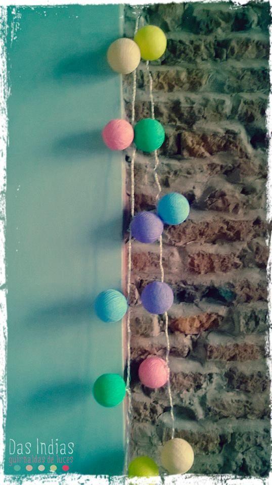 Guirnalda de luces Multicolor Pastel - DAS INDIAS