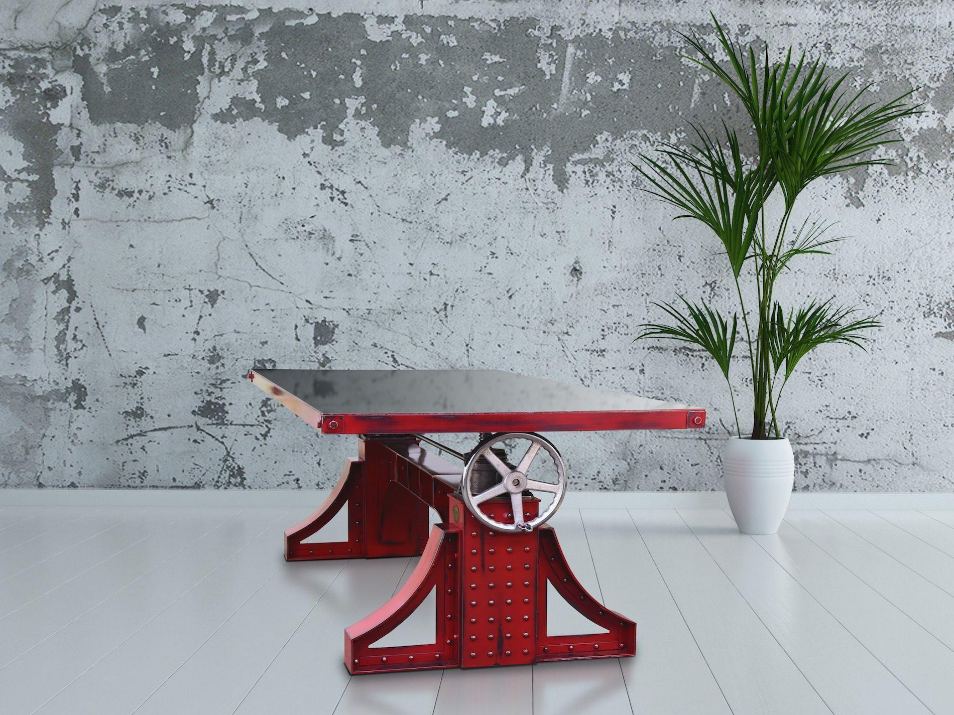 Bronx Table with Steel Top – Model #BX21   Vintage Industrial Furniture