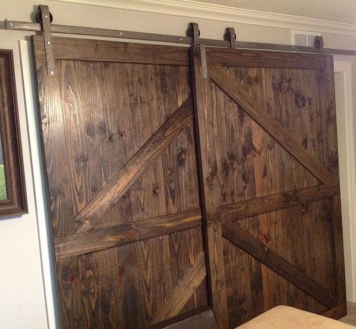 Single Track Bypass Sliding Barn Door Hardware Lets 2 Doors Overlap