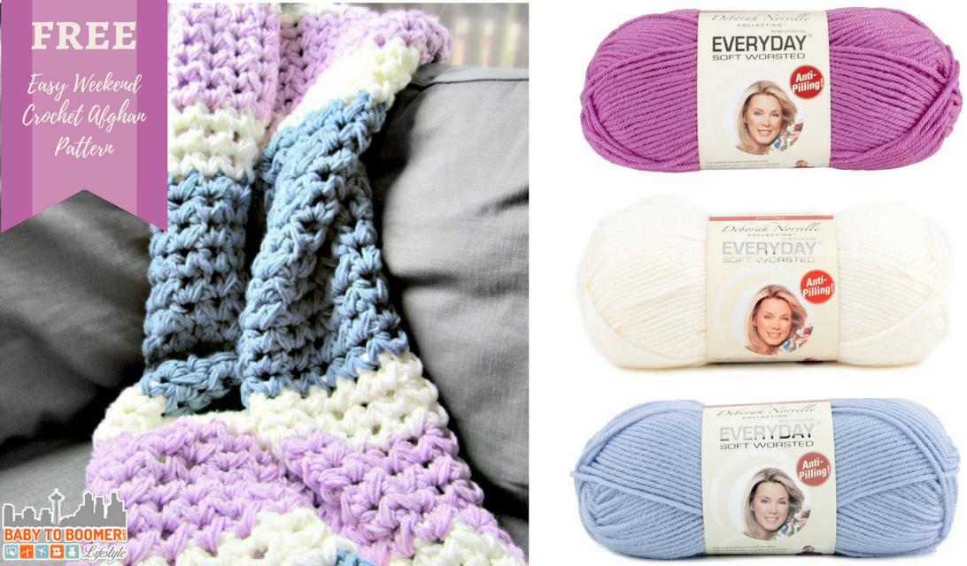 Easy Weekend Crochet Afghan Free Pattern | Granjas y Cosas