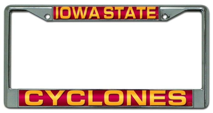 Iowa State Cyclones Laser Cut Chrome License Plate Frame | License ...