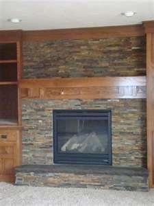 Drywall Over Brick Fireplace Slate Fireplace Brick Fireplace Fireplace Redo