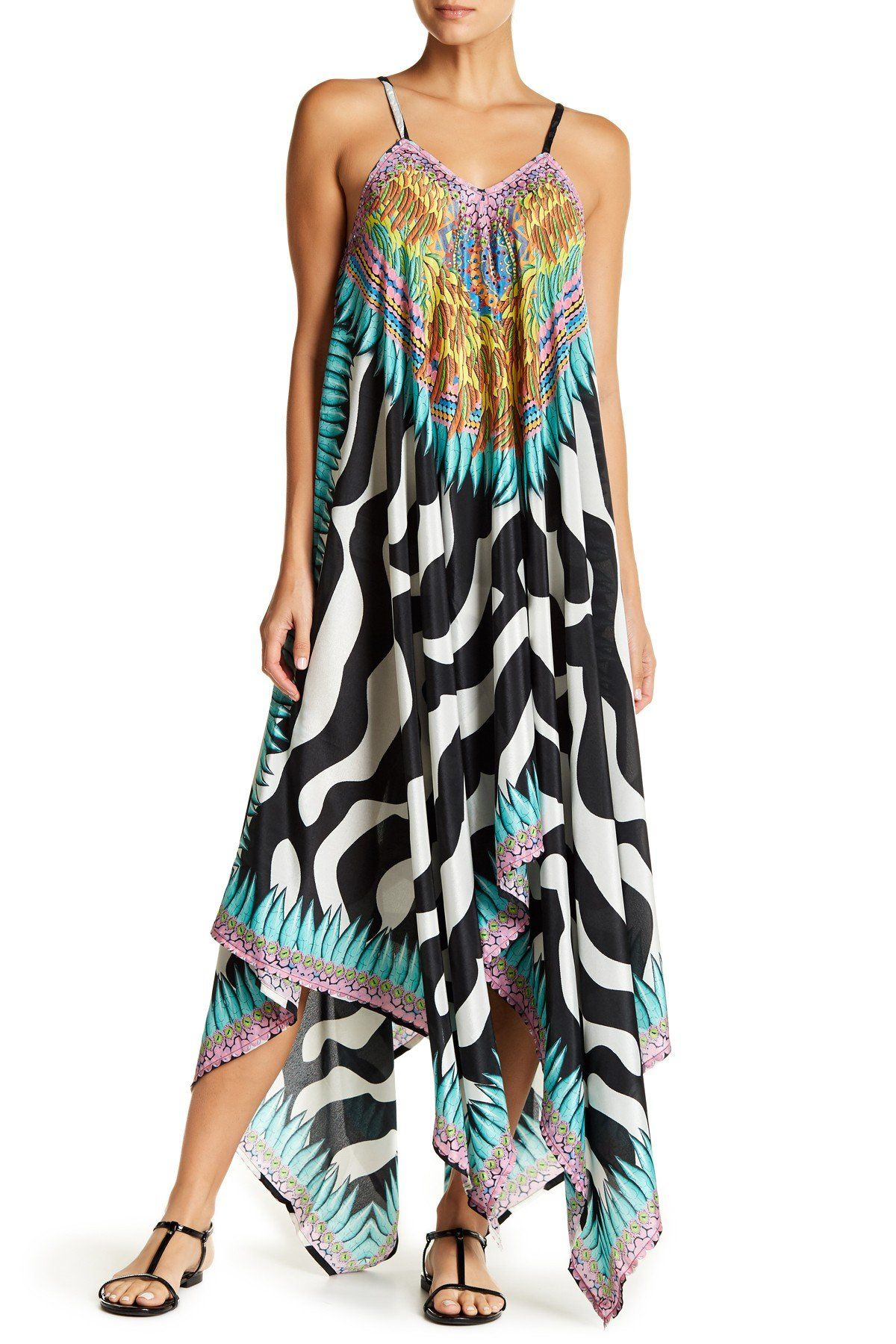 a1827113c1 Sheer Hi-Lo Multi-Colored Beach Cover Up Dress | Products | Dresses ...