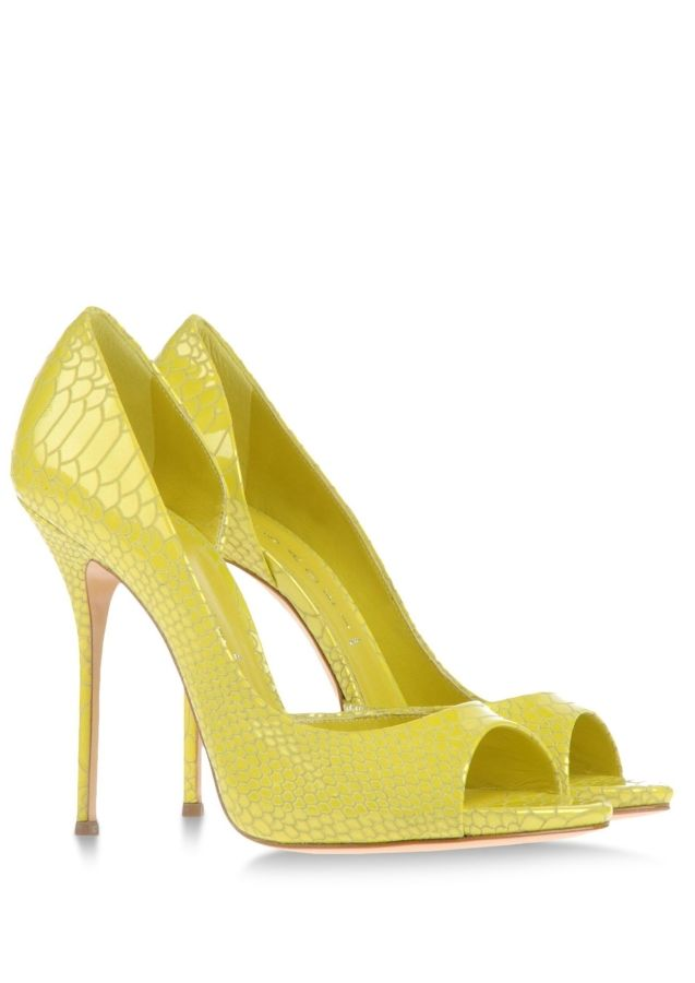 Casadei. I LOVE THE COLOR FOR SPRING & SUMMER! Pair it with a chic black and white outfit