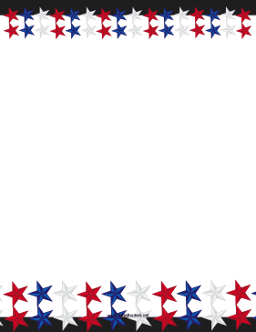 Patriotic Stars Border Patriotic Stars Patriotic Borders For Paper
