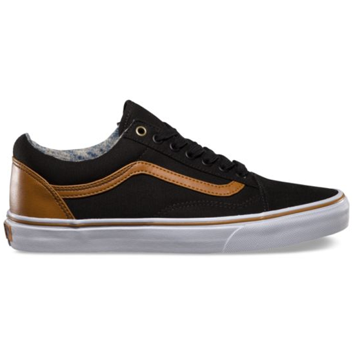 Vans Mens Old Skool Shoes (BlackWashed) $49.95 | Mode