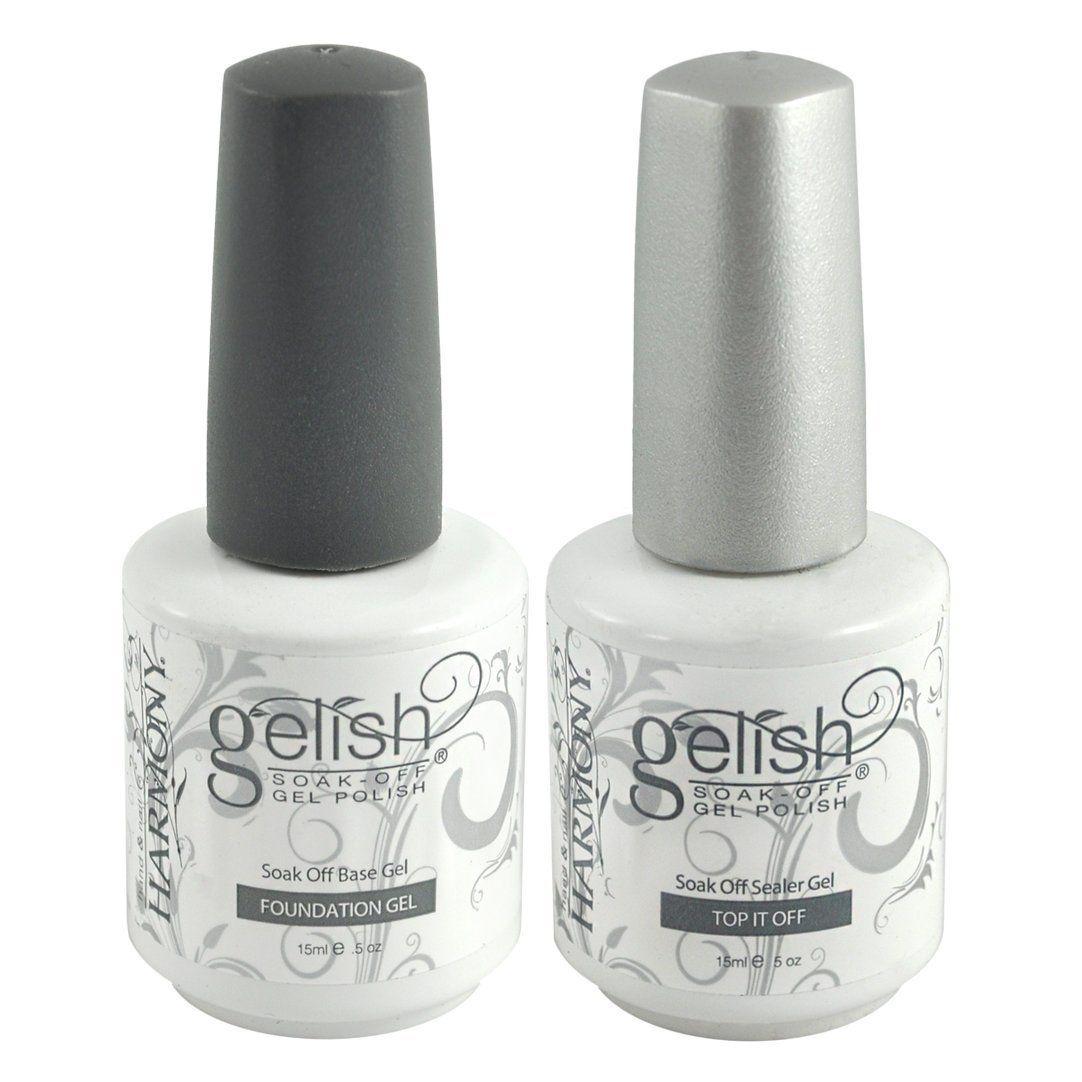 Amazon.com: Gelish .5 Base & Top Coat Gel SET Harmony Nail Salon UV ...