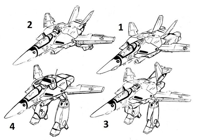 rockwell bell vf 1 valkyrie transformation sequence mecha journal グラフィティ デザイン イラスト