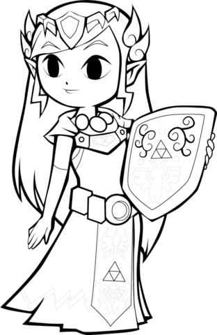 Toon Princess Zelda Coloring Page From The Legend Of Zelda Category Select From 25105 Pr Disney Princess Coloring Pages Princess Coloring Pages Coloring Pages