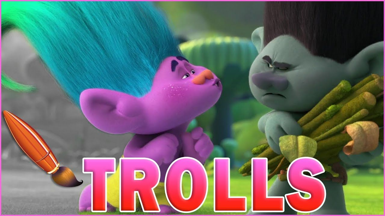 Coloring Pages Trolls : Coloring trolls creek and branch kids coloring book coloring