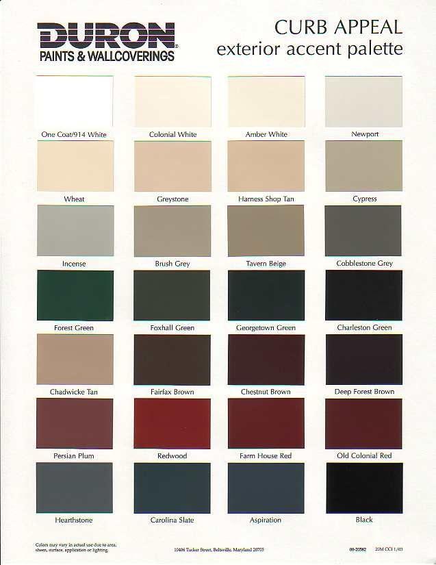 Exterior Colors Exterior Paint Paint Color Chart
