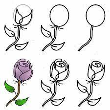 Betere tekenen in stappen - Google zoeken | Bloemen tekenen, Roos BH-09