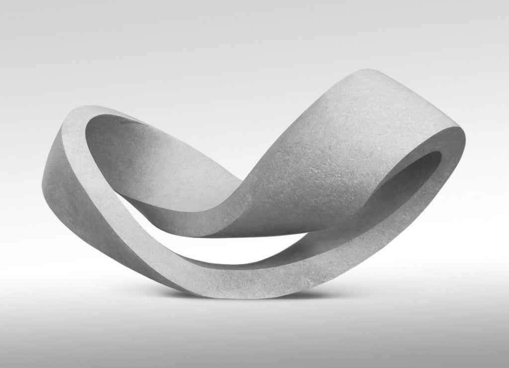 Gianpietro Carlesso, Curvatura ventisei – Eterno presente, 2014, Puglia mazzaro, 100 x 250 x 80 cm