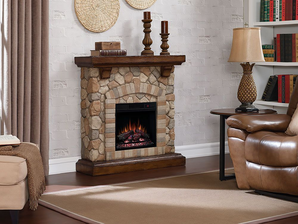 Tequesta Stone Electric Fireplace Mantel Package In Old World Brown 18wm40070 Stone Electric Fireplace Fireplace Entertainment Fireplace Entertainment Center