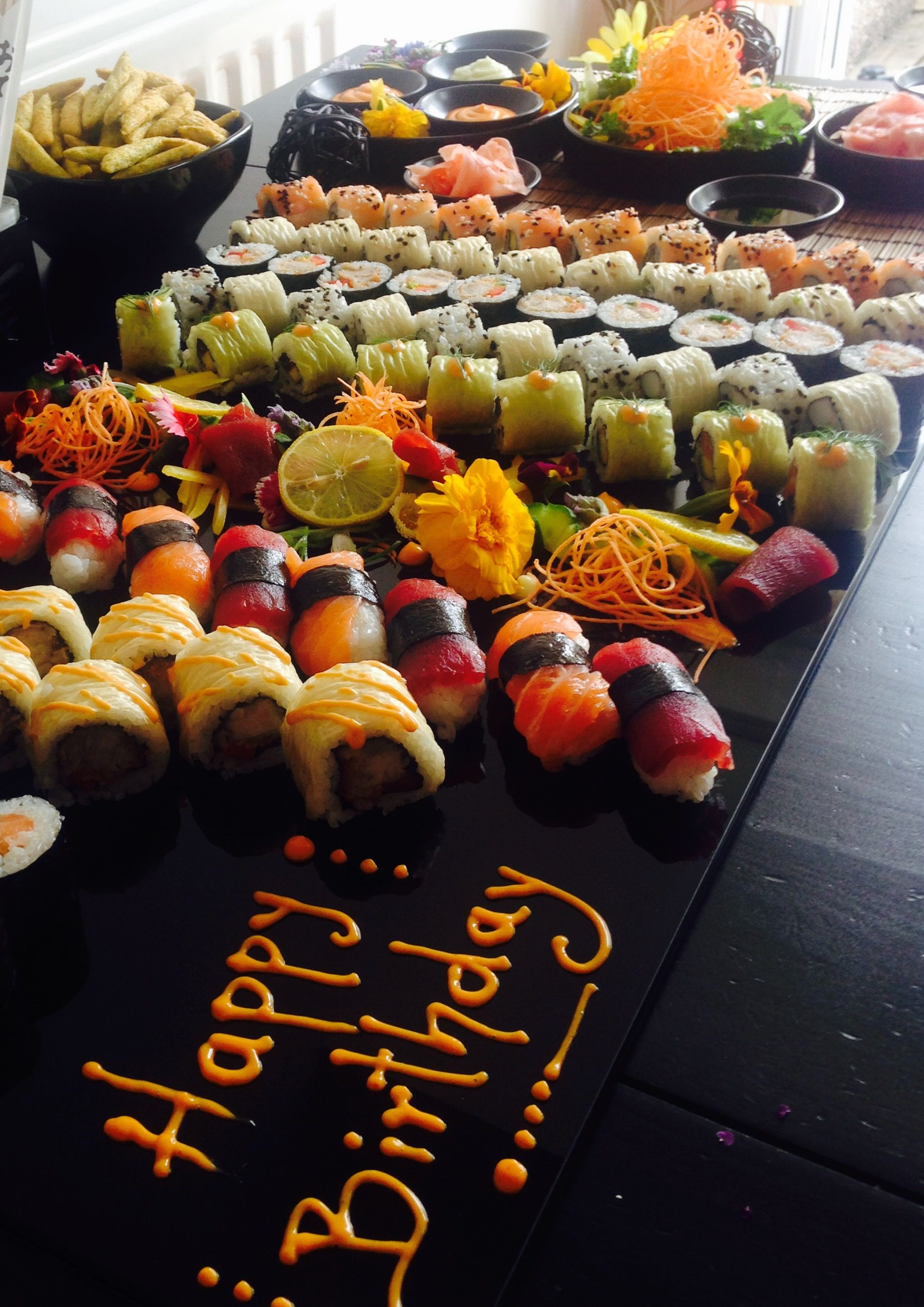 Happy Birthday Sushi Bar  Menu Ideas For Your Office