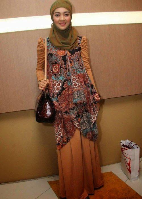 Baju Pesta Muslim Batik Modern Semi Casual Desain Baju
