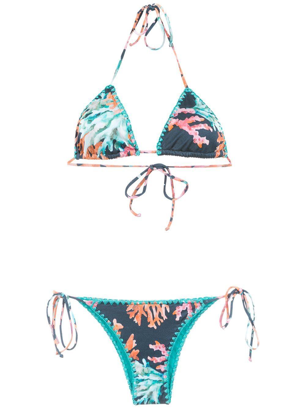 7eb68eb22cad Brigitte printed triangle bikini set - Multicolour in 2019 ...
