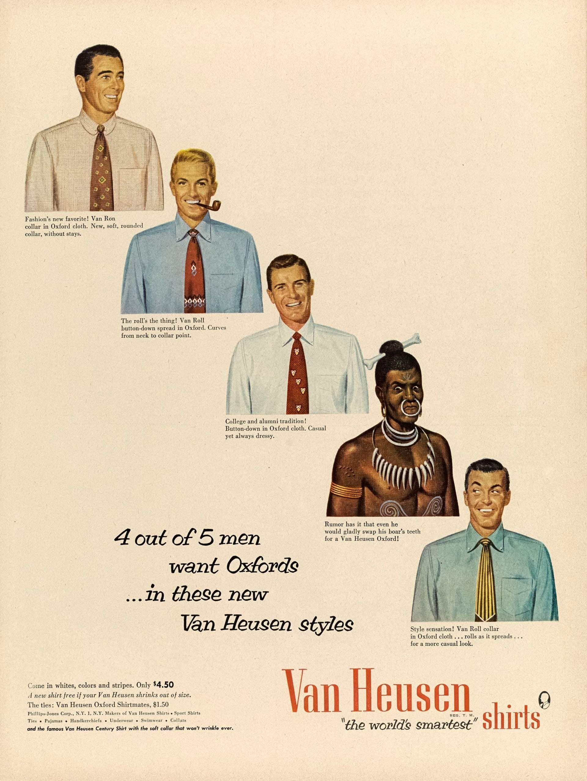 02106227d2 The worlds smartest shirts Van Heusen 1952  vintageads  Ads  vintage   PrintAd  tvads  advertising  BrandScience  influence  online  Facebook   submissions ...