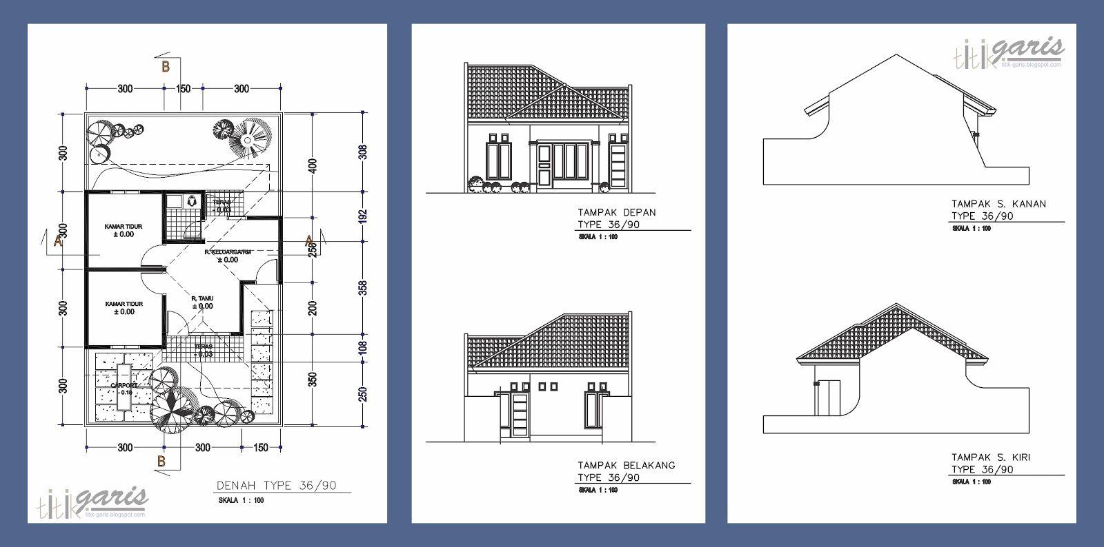 Denah Rumah Dan Tampak Kreasi Rumah House Floor Plans Home Design Plans Residential House