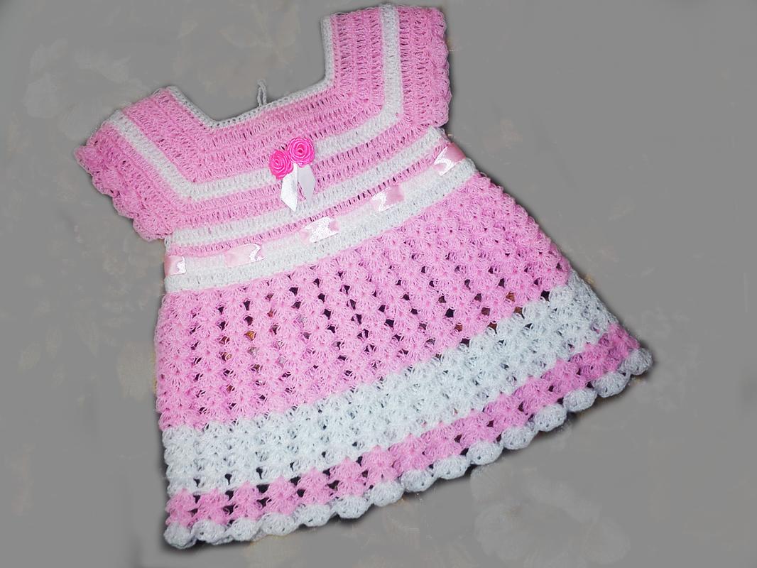 Crochet baby Girl Dress - rewrite pattern - crochet for you ...