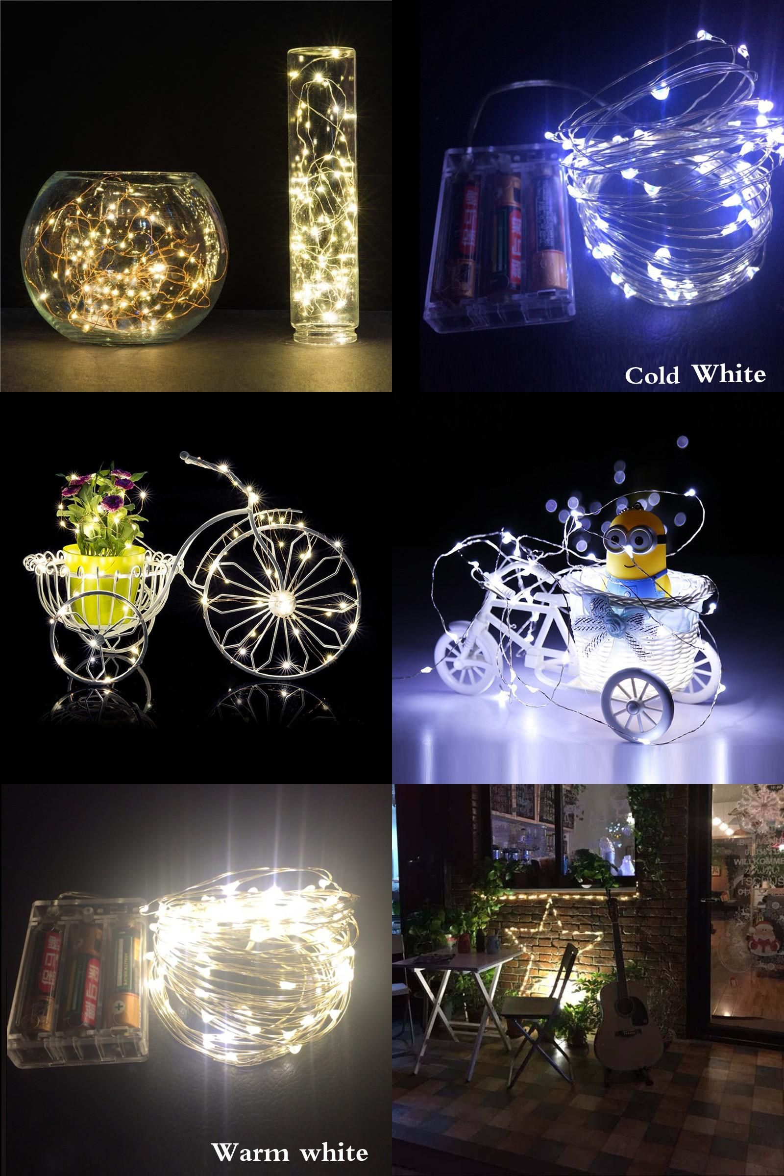 [Visit To Buy] 10M 100 Led Battery Waterproof Led Copper
