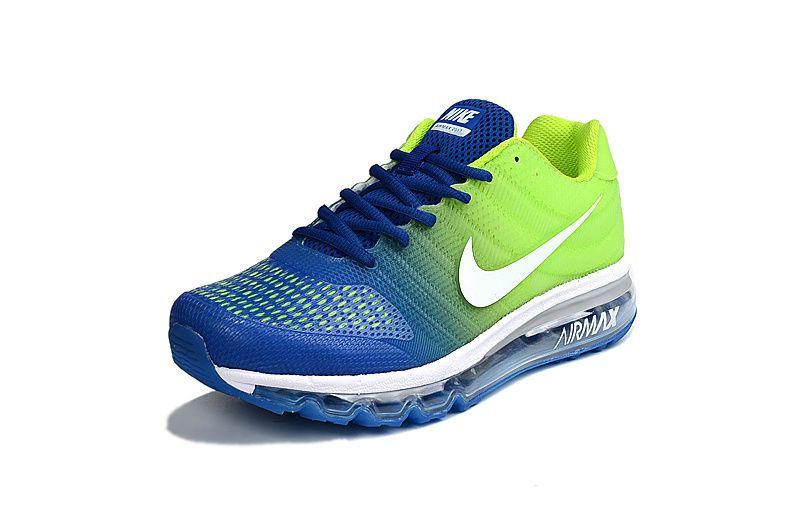 Nike Air Max 2017 Blue Green Men Shoes PVC