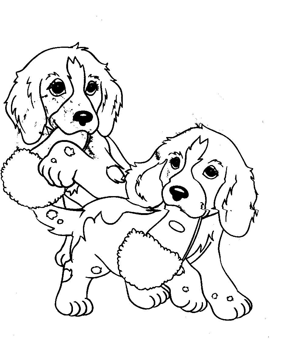 Colouring sheets of dogs - Nice Coloring Page Dogs Free Download