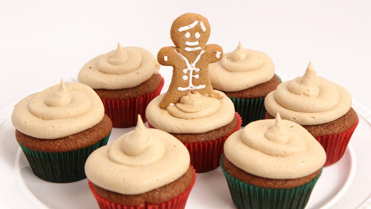 Gingerbread Cupcakes Recipe Laura Vitale Laura In The Kitchen Episod Gingerbread Cupcakes Cupcake Recipes Christmas Baking