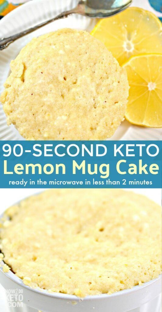 When youre craving something sweet it doesnt get any easier than this Keto Lemon Mug Cake Ready in minutes using only a microwave