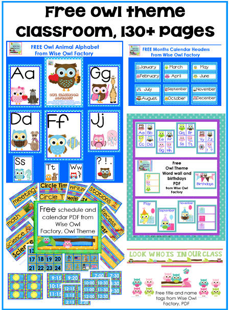 Classroom Decoration Printables Free ~ Free owl theme classroom printables howell s owls
