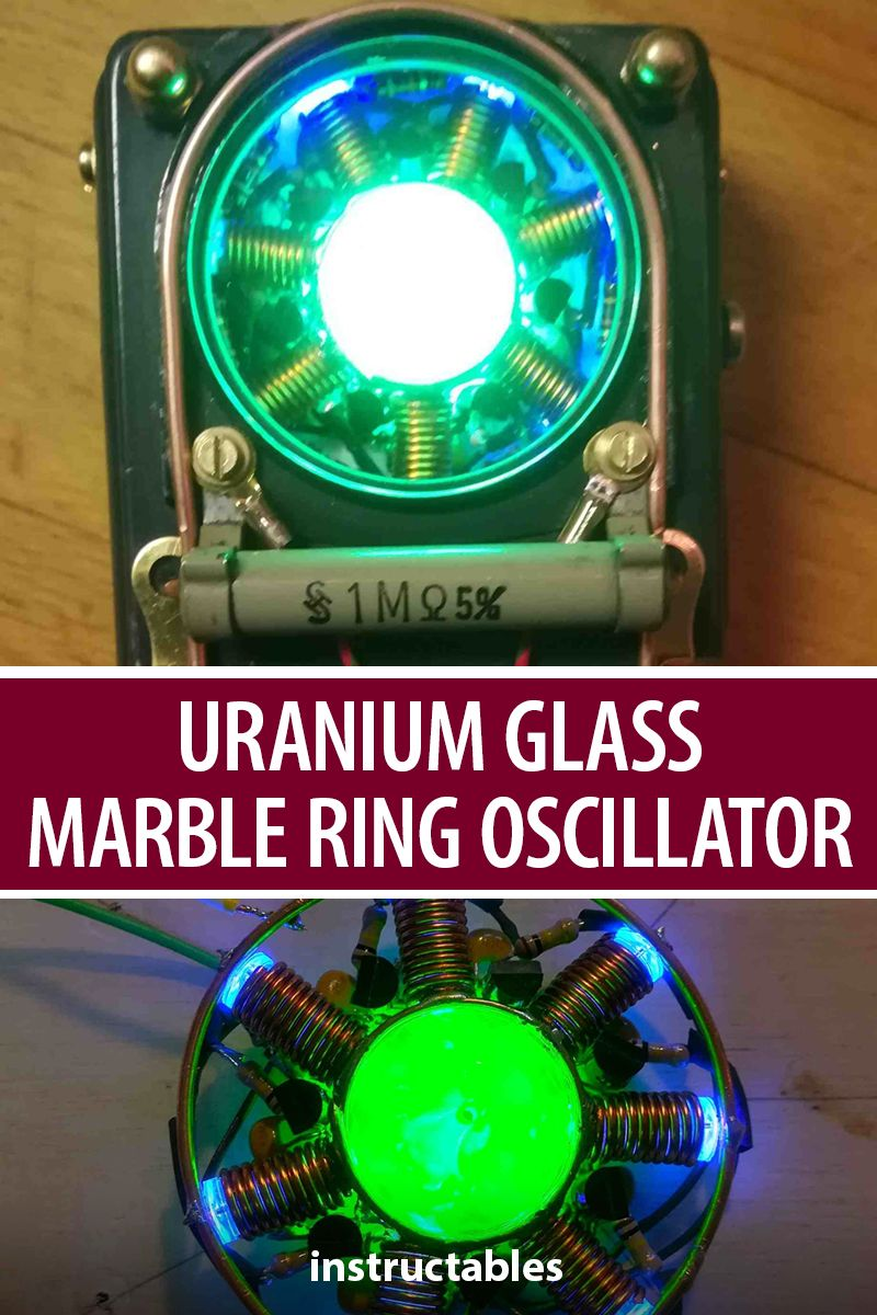A UMRO is a Uranium glass marble ring oscillator that also has a steampunked…