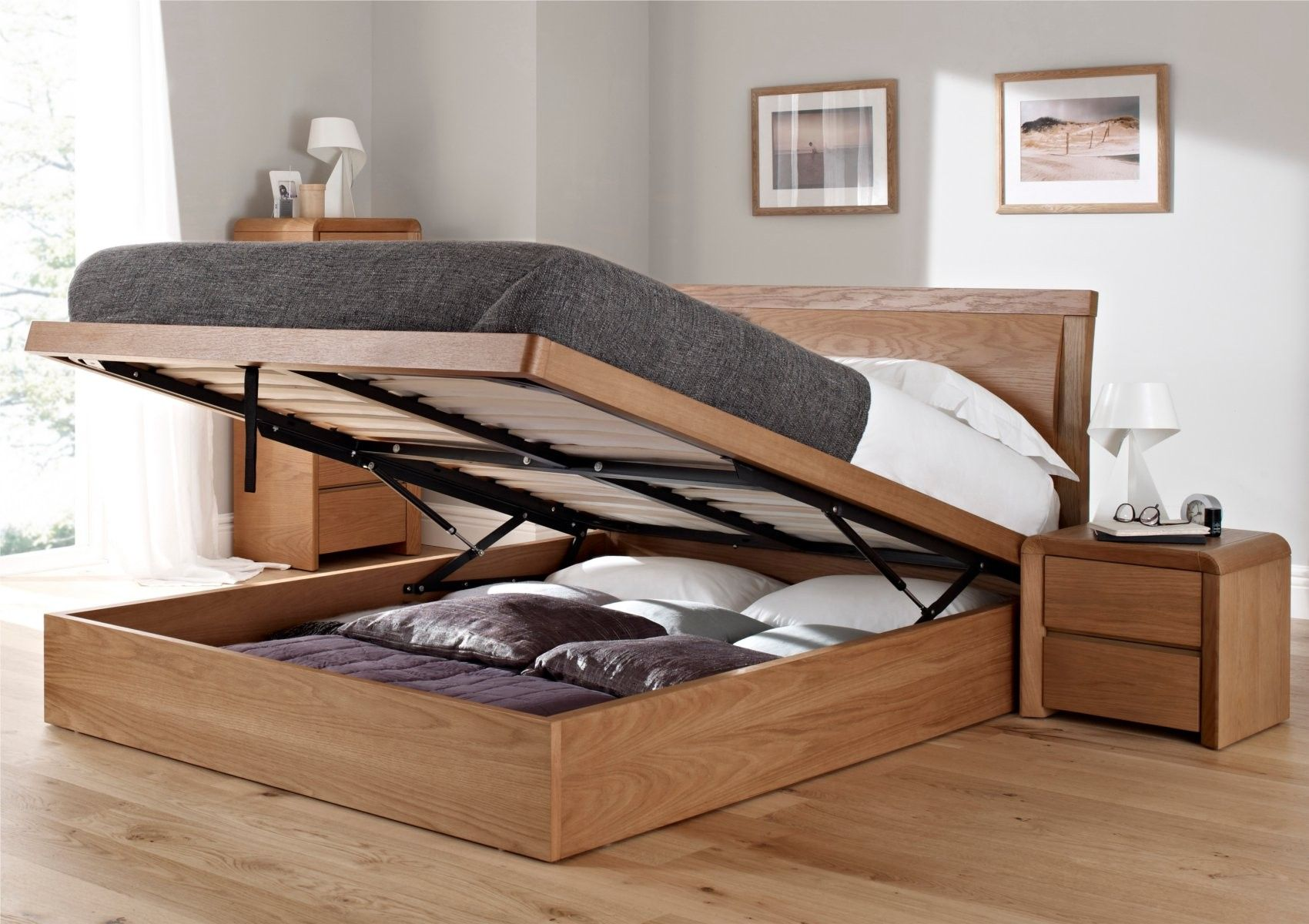 Prepossessing King Size Ottoman Storage Bed New In Apartment