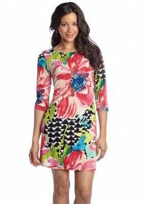 Tiana B  Petite Three-Quarter Sleeve Shift Dress