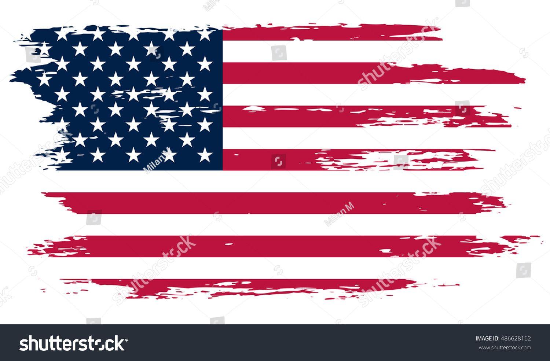Grunge American Flag Vector Flag Of Usa Sponsored Affiliate American Grunge Flag Usa Flag Vector Free Art Flag