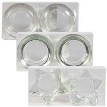 Bulk Glass Tealight Candleholders 2 Ct Sets At Dollartree Com Glass Tea Light Holders Glass Tealight Tea Lights