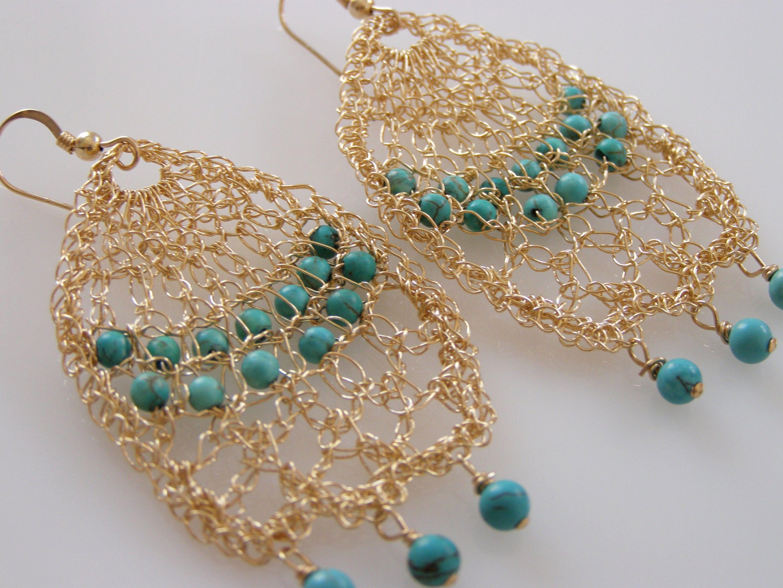 wire crochet jewelry tutorials - Google Search