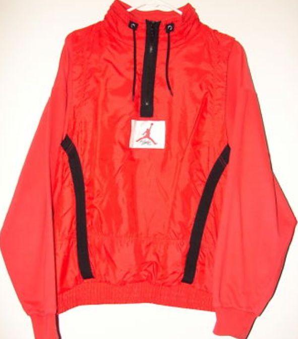 fe5784a69d22 AJ 4 - Red colour range Warm up half zip 1989